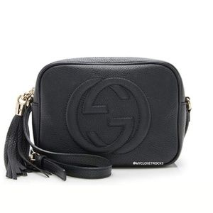 Gucci Bags - SOLD Gucci Black Disco Crossbody Bag